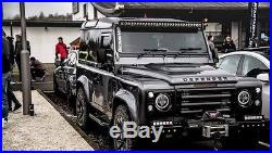 Paire Phares DEFENDER 90 td5 110 ROVER phares NOIR 7'' YEUX D'ANGE H4 HOMOLOGUE